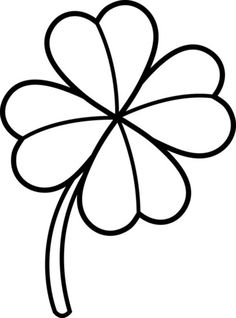 Artistic Drawing of Four-Leaf Clover Coloring Page   Abhodge ...