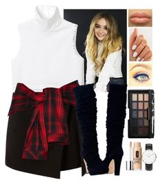 """""""Sabrina carpenter inspired outfit"""" by preshnimahanta ❤ liked on Polyvore featuring NARS Cosmetics, Clinique and Daniel Wellington"""