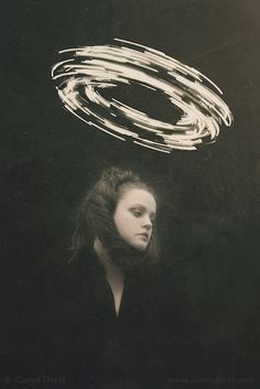 A Heavy Halo To Wear Caryn Drexl Photography. Light Painting Photography, Surrealism Photography, Artistic Photography, Digital Photography, Portrait Photography, Food Photography, Photography Lessons, Exposure Photography, Dark Portrait