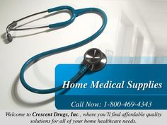 Welcome to Crescent Drugs, Inc., where you'll find affordable quality solutions for all of your home healthcare needs. We offer the Home Medical Supplies products and services to make your life easier and more enjoyable. We provide experience, fair prices, and a friendly atmosphere. \n\nKindly contact us at info@crescentmedical.com for additional information. Call Us :- 1-800-469-4343