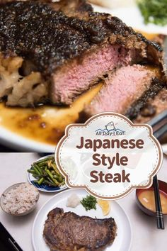 March 2018 Japanese Style Steak with Shio Koji All Day I Eat - like a shark There is nothing like a juicy rib-eye steak, properly cooked and properly seasoned now is there? I don't eat meat as often as I used to so when I do I Food Food, japanese Easy Japanese Recipes, Asian Recipes, Ethnic Recipes, Japanese Steak, Japanese Food, Japanese Dishes, Sauce Recipes, Gourmet Recipes, Dessert Recipes