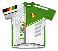 Zimbabwe ScudoPro Short Sleeve Cycling Jersey for Men Size L     Want to  know acd8c3131