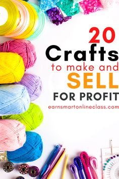 Want to make and sell crafts for extra cash? Get these easy and creative DIY crafts for kids and even growups that you can create and sell for profit. It's so easy to earn money from home these days. You just need a little guidance. Learn how to make money crafting from this post! #makemoney crafting from home #craftsthatmakemoney #sidehustles #homebusiness #earnmoneyfromhome Work From Home Careers, Work From Home Companies, Legitimate Work From Home, Online Work From Home, Work From Home Opportunities, Work From Home Moms, Crafts To Make And Sell, Diy Crafts For Kids, Easy Crafts
