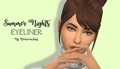 Summer Nights EyelinerHello! I'm finally back with some cc! This is a simple winged eyeliner. • Black colour only • Base game compitable • Custom thumbnail D O W N L O A D