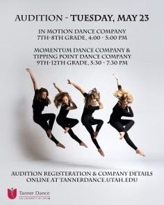 Junior High and High School Dancers: Join Us May 23