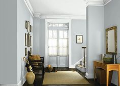 Light French Gray - One of the best blue/gray paint colors. Light French Gray - One of the best blue/gray paint colors. Paint Colors For Living Room, Living Room Colors, Living Room Grey, Bedroom Colors, Living Room Decor, Blue Gray Bedroom, Dining Room, Blue Grey Rooms, Bedroom Decor