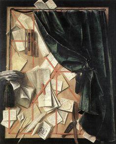 oilpaintinggallery:    Oil painting: Trompe l'Oeil  Artist: Cornelis Gijbrechts