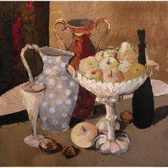 Still Life with Fruits, oil on canvas, 70 x 70 cm, by Todor Ignatov - Tony  http://buyart.tonyignatov.eu/
