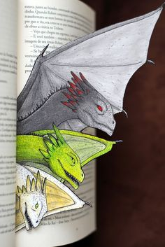 Blood of my Blood GoT Dragons bookmark. I adore all the Game of Thrones fan art!