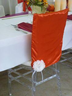 Sanojah's Chiavari Chair Cap With Handmade Fabric Flower