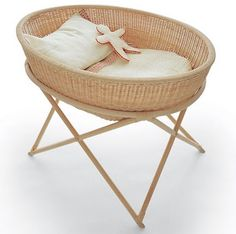 Call it a cradle or a bassinet, or if only for the first few months, the future home of your baby. Wicker Furniture, Kids Furniture, Hanging Cradle, Hanging Basket, Baby Mine, Baby Bassinet, Everything Baby, Beautiful Children, Kids Room