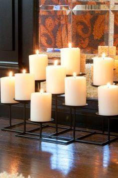 9 Candle Metal Candelabra