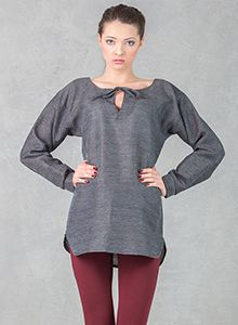 Grey Shirt with Lacing Grey Shirt, Spring 2014, Tunic Tops, Lace, Shirts, Collection, Women, Fashion, Gray Shirt Outfit