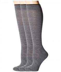 Smartwool - Basic Knee High 3-Pack (Medium Gray) Women's Knee High Socks Shoes