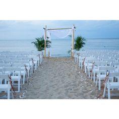 DIY Beach Wedding Ceremony Kit ❤ liked on Polyvore featuring wedding