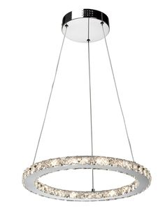 Beautifully cut and polished leaded crystal luminaries sparkle with the technology of energy efficient LED lighting. (Circular Chandelier - 24 x 1W LED)