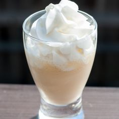 Butternut Rum Lifesaver ~ ounce Baileys Irish Cream, ounce butterscotch schnapps, ounce coconut rum, pineapple juice, whipped cream Minus the coconut rum plus Captain? Cocktails, Non Alcoholic Drinks, Cocktail Drinks, Martinis, Fancy Drinks, Bar Drinks, Fruit Drinks, Dessert Drinks, Refreshing Drinks