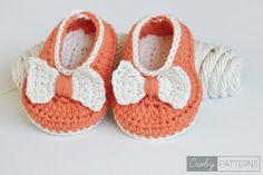 Orange Pumpkin – Crochet Baby Flats/Botties