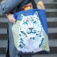 Recycled Eco-Tote from the Snow Leopard Trust. Help save the Snow Leopard.