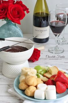 Chocolate Fondue For Two - only two ingredients!