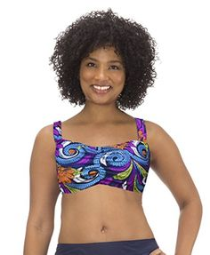 Mazu Swim Womens Underwire Bandeau Bra Top in Veruca Paisley Size -- Details can be found by clicking on the image. Paisley, Maternity Swimwear, Bandeau Bra, Swimsuit Cover Ups, Plus Size Swimwear, Swimsuits, Bikinis, Bra Tops, Fashion Brands