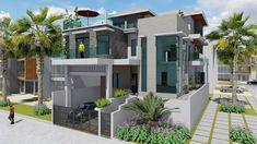 7 Bedrooms Modern Home Design Plan - Samphoas.Com House Layout Plans, My House Plans, Bedroom House Plans, House Layouts, House Floor Plans, Home Decor Bedroom, Modern Bedroom, Architectural Design House Plans, Modern House Design