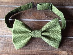 Green Bow Tie by BrileyBean on Etsy