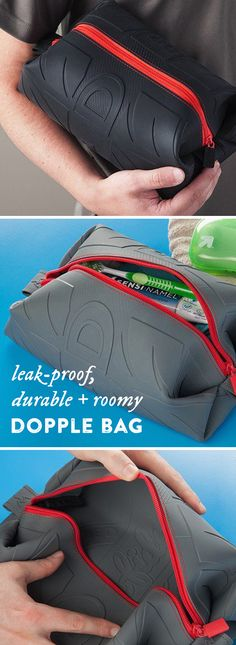 This durable doppel bag is attractive and roomy (holds a whole can of shaving cream or hairspray). And best of all, its seamless design effectively contains toiletry spills, keeping your other luggage contents safe. Constructed out of a single piece of silicone, it cleans up in a snap—just rinse and air dr