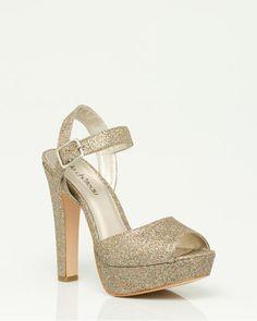 Glitter Platform Sandal