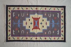 Flatweave Cotton Dhurrie Rug - 3x5, Navajo Rug, Bohemian Rug, Dhurry Rugs, Tribal Rug, Moroccan Rug, Handwoven Rug