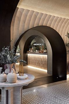 Athenian grit comes to life with a new dining concept for the UAE | Archello Australian Interior Design, Interior Design Awards, Arch Interior, Commercial Interior Design, Interior Exterior, Commercial Interiors, Interior Concept, Concept Restaurant, Bar Restaurant Design