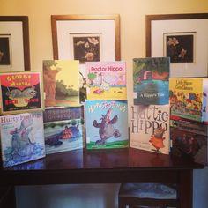 Hippo Books Hippo Crafts, Hippopotamus, Growing Up, Frame, Books, Decor, Art, Picture Frame, Art Background