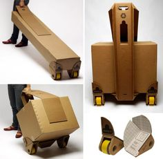 wheelable cardboard boxes
