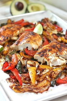 Sheet Pan Mahi Fajitas by LaughingSpatula.com