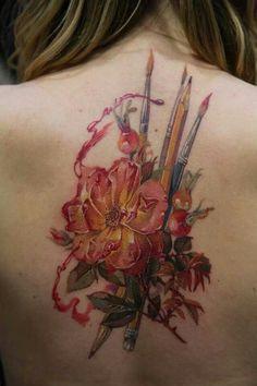 Back tattoo #paint #art #flower #beauty #creative