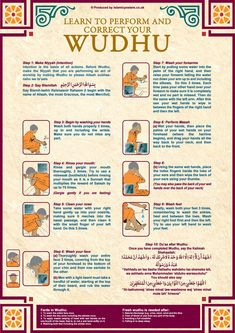Free Posters on how to perform Ghusl and Whudu