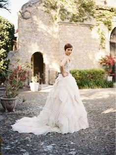 Elegant Spanish Mission Inspired Wedding via oncewed.com