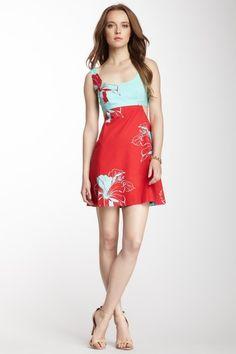 i like this color combination ....Nanette Lepore Matthew Cutout Print Dress by Nanette Lepore on @HauteLook