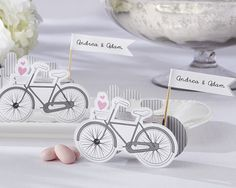 "Vintage Inspired Bicycle Favor Boxes for Birthdays, Weddings, and Showers by Kate Aspen | #celebratewithkate and Pin to Win! How to enter: 1) Click through to fill out the form 2) Follow @kateaspen on Pinterest 3) Pin your favorite entertaining decor, favors, and ideas with inspiration from our ""Celebrate with Kate Aspen"" board kateaspen.com http://sweeps.piqora.com/kateaspen"