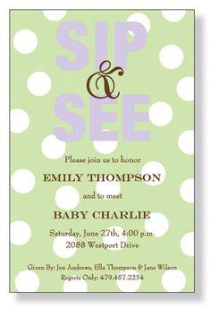 Sip N See Invitation