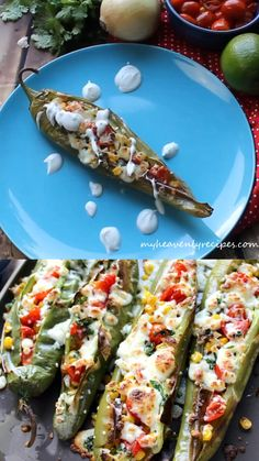 Stuffed hatch green chiles- party appetizer or dinner idea. Queso and cilantro. Hatch Green Chili Recipe, Green Chili Recipes, Hatch Chile Recipe, Hatch Green Chiles, Hatch Peppers, Green Chilis, Hatch Chili, Mexican Food Recipes, Vegetarian Recipes