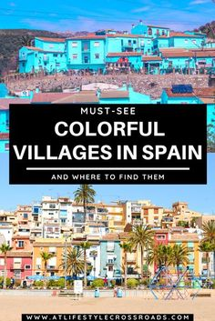 When All You Need Is A Little Splash Of Colors - The Most Colorful Villages in Spain #Spain #Colorful #villages | Spain Places to see | Spain Beautiful Villages | Spain Colorful Towns | Spain Travel Ideas | Europe Travel Destinations | Colorful places in the world | Beautiful Small Towns in Europe | Spain Travel Aesthetic | Spain travel Places to Visit | Prettiest towns in Europe | Spain Travel Tips Travel Tours, Europe Travel Tips, European Travel, Places To Travel, Travel Destinations, Travel Ideas, Oregon, Places In Spain, Spain Travel Guide