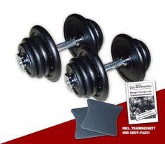 Guss Kurzhantel-Set 2 x 25 kg inklusive Griff-Pads und Übungsanleitung  #hantelset #hantel #lkurzhantelsetl #workout #vorteilsangebot #sparangebot #hanteltraining #fitness #training