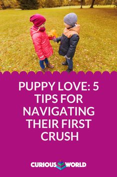 Like it or not, our children will probably get their hearts broken once or twice during their lifetimes. Here are some tips for helping your youngster navigate puppy love. First Crush, Meaning Of Love, Words To Describe, Teenage Years, Romantic Love, Thoughts And Feelings, 5 Year Olds, Having A Crush, Love Songs
