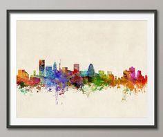 Philadelphia Skyline Art Print 520 by artPause on Etsy, Dallas Skyline, New York City Skyline, Skyline Von London, Kansas City Skyline, Cincinnati Skyline, City Skyline Art, Detroit Skyline, Cityscape Art, Skyline 2