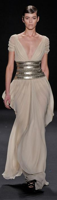 Naeem Khan F/W 2013 RTW - NYFW - with a slip underneath, of course!