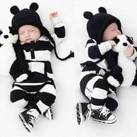 Wish | New Baby Boys Girls Newborn Striped Romper Outfit Bodysuit Jumpsuit Clothes 0-3 Years