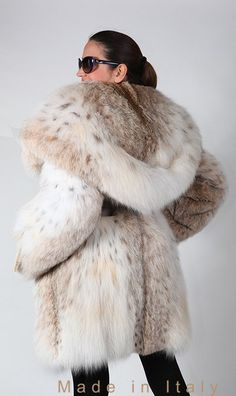 Hooded Lynx Fur Coat ooh my gosh need
