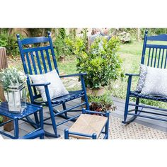 Dixie Seating Asheville Slat Back Wooden Rocking Chair - Factory Assembled