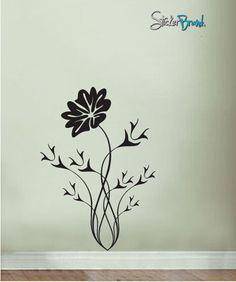 Vinyl Wall Decal Sticker Flower Thorns #520